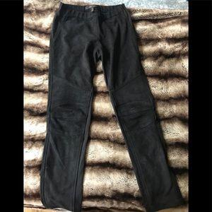 BCBG size xs vegan suede leggings